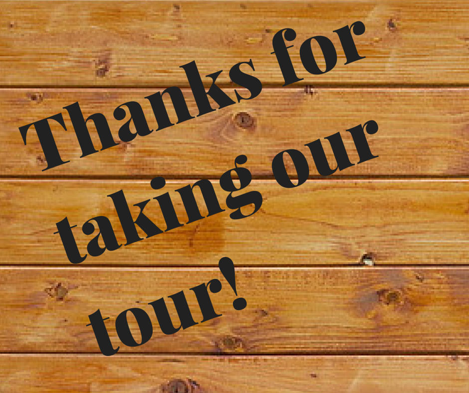 22 Thanks for taking our tour!